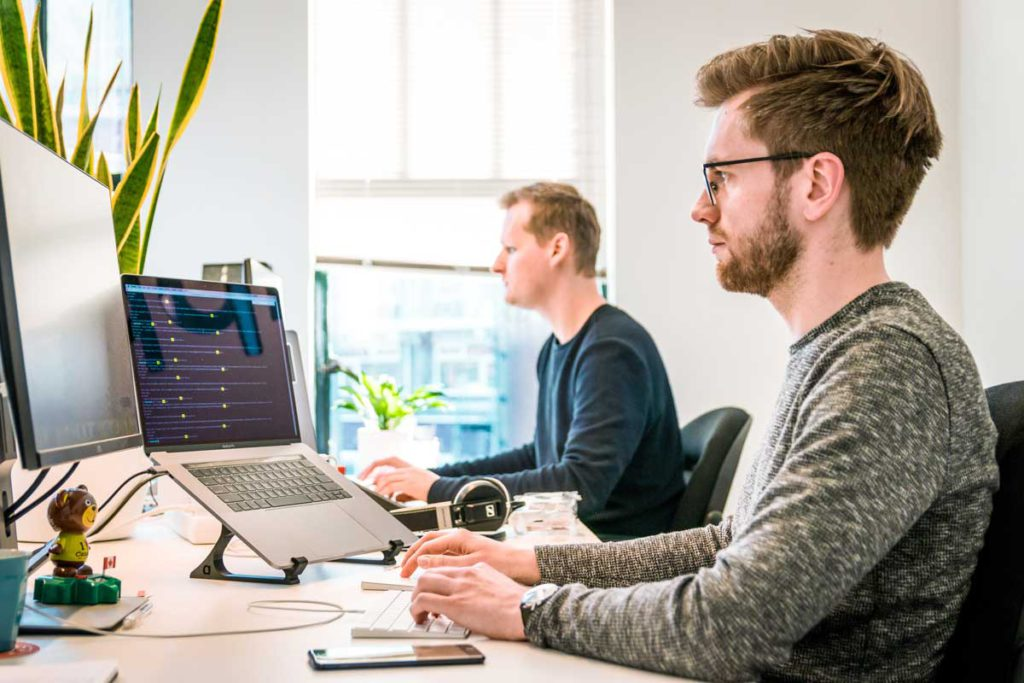 2 people developing software