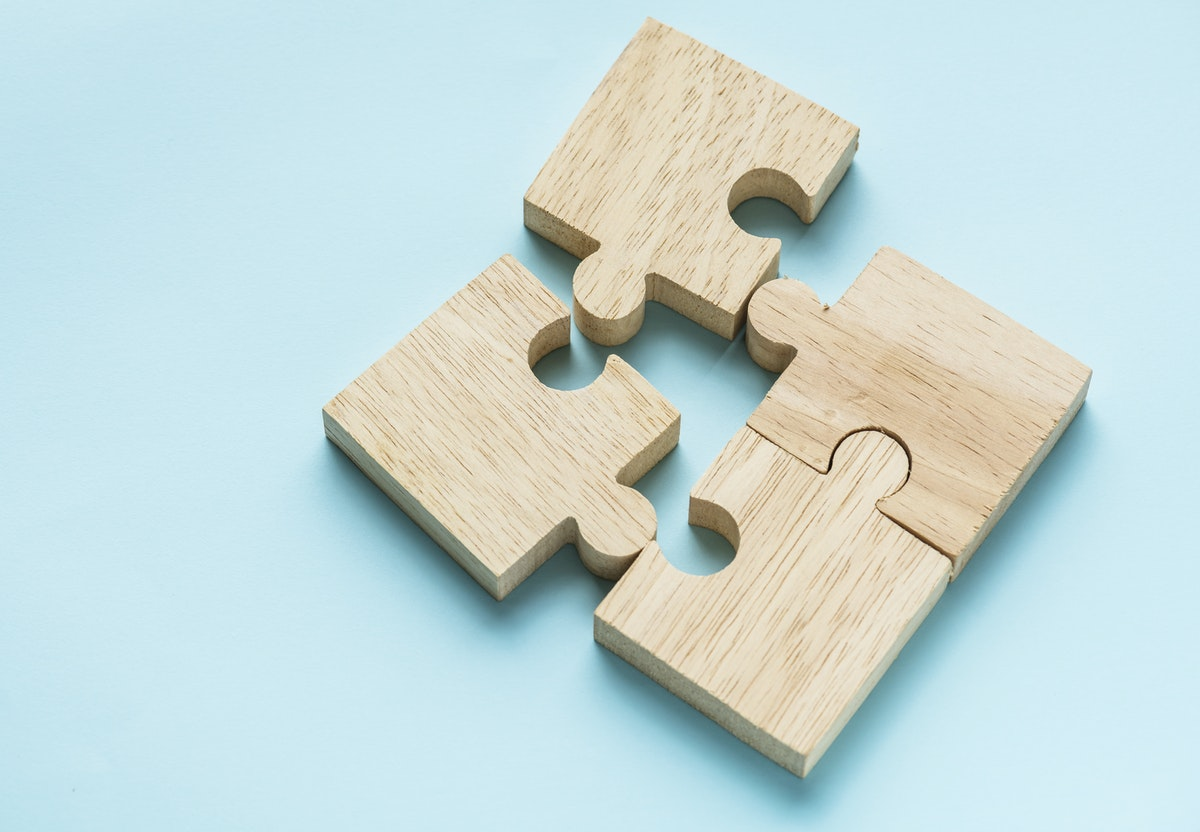 Puzzle showing integration