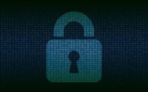 digital padlock representing cybersecurity